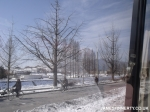 Street free of cars in Kaesong, North Korea.
