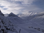 View towards Nybyen and the Longyearbreen Glacier from Mine 2 ('Gruve 2')