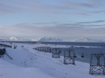 View from Longyearbyen west towards the Airport.