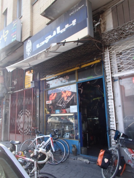 Saeed Mohammadi's Bike shop, free service for tourists in Tabriz!